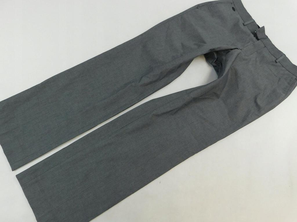 1502d26 RIVER ISLAND spodnie SZARE eleganckie M