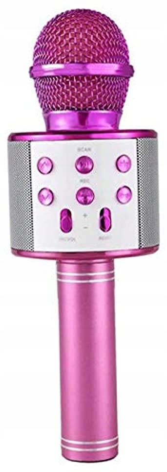 Mikrofon bezprzewodowy karaoke różowy