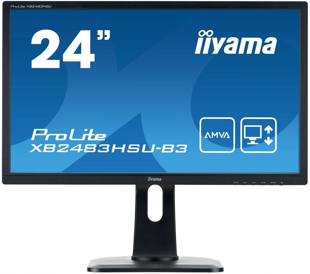 Monitor iiyama XB2483HSU-B3 24 FLICKER FREE FullHD