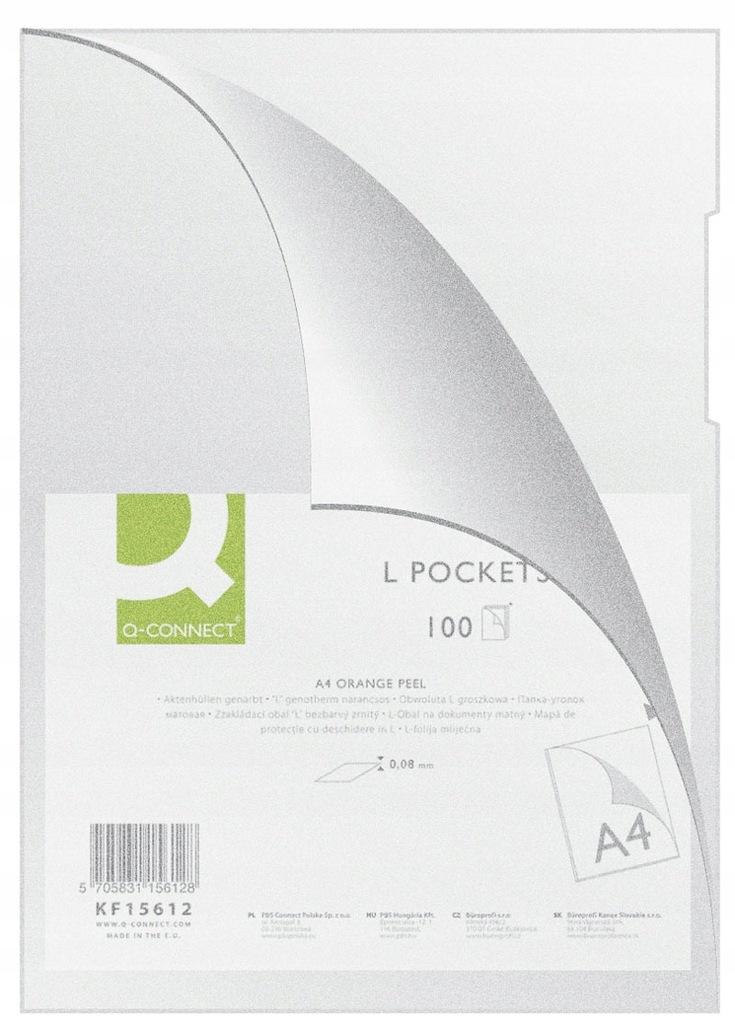 Obwoluta typu L PP A4 80mikr.100szt. transparent