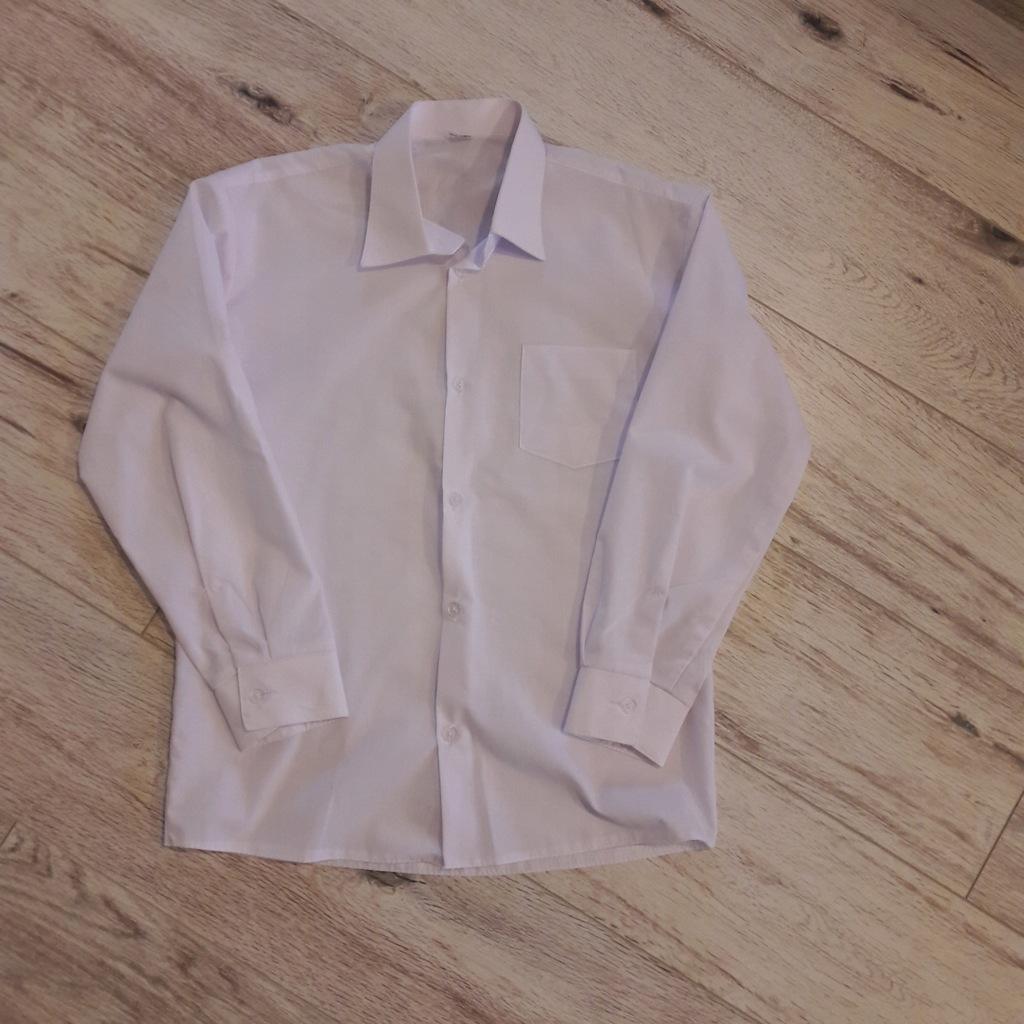 Białe Koszule chłopięce 2-pack R.140-146