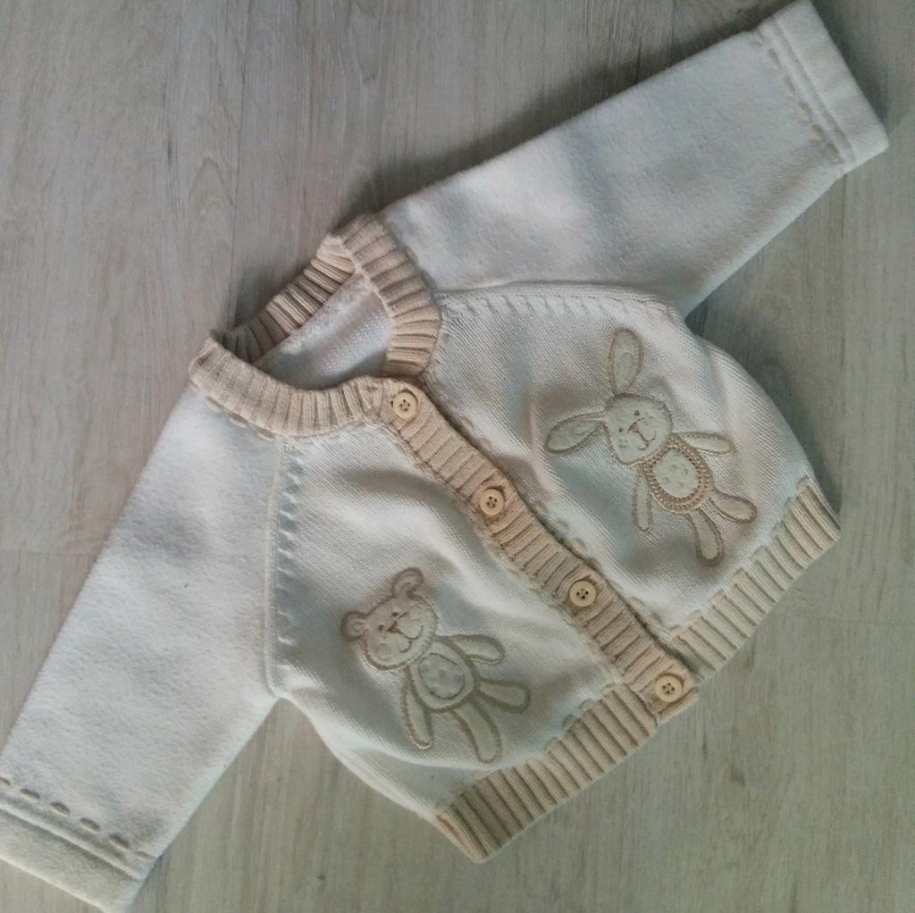 sweterek niemowlęcy newborn matalan