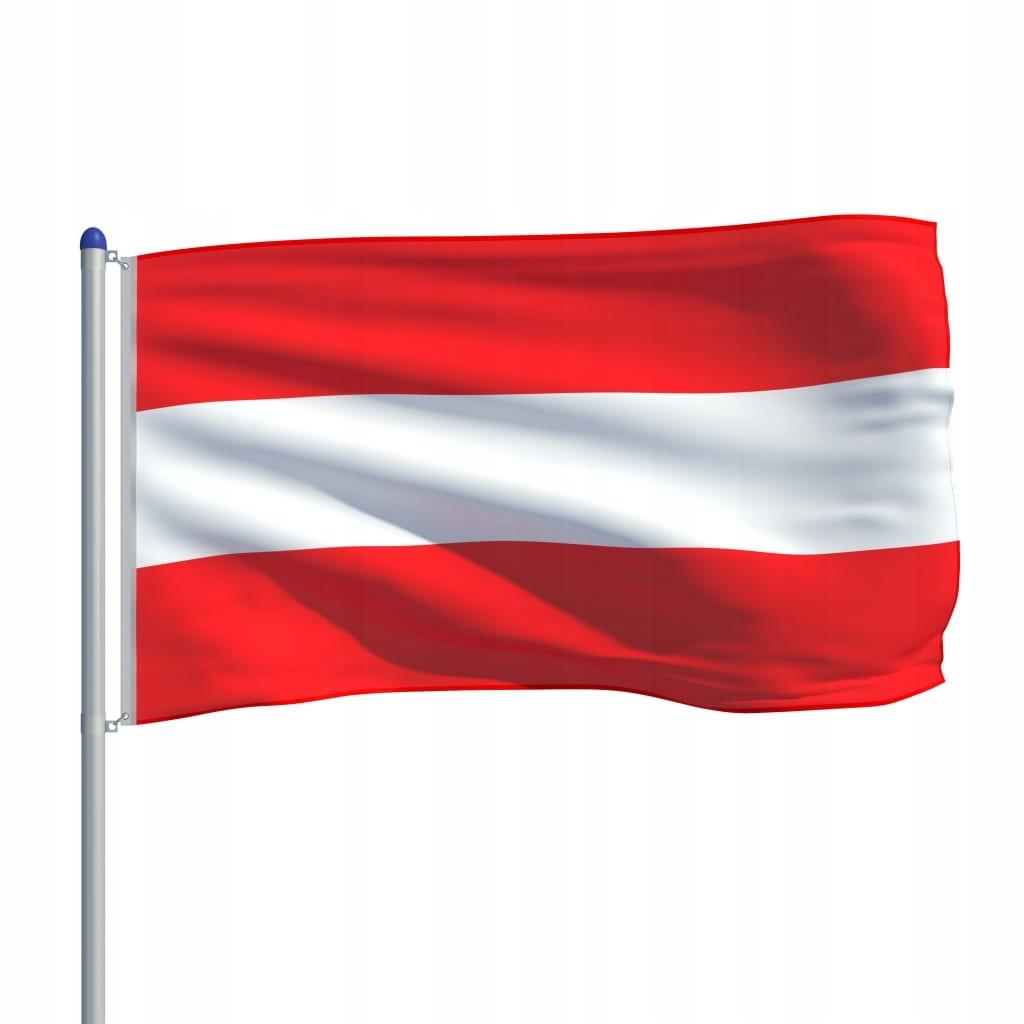 Flaga Austrii VidaXL z aluminiowym masztem 6 m