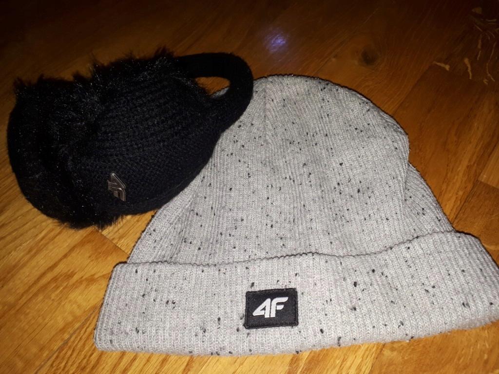 czapka 4f szara opaska nauszniki