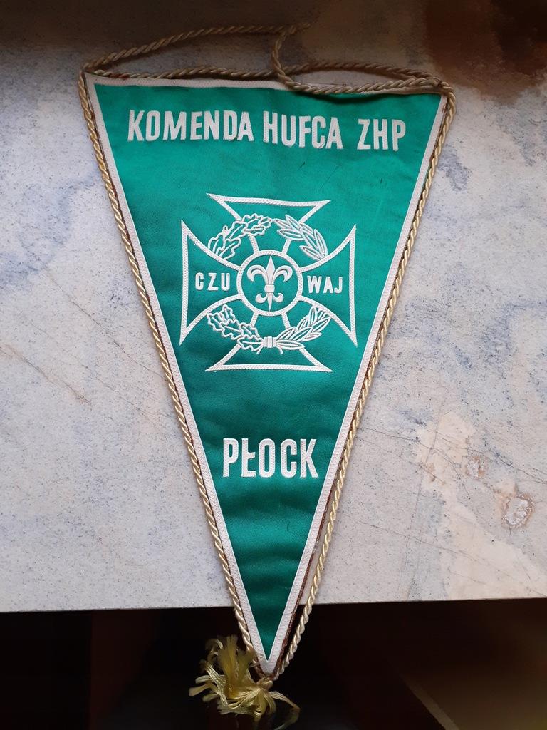 Proporczyk - Komenda Hufca ZHP w Płocku - 1969r.