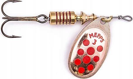Mepps Błystka Aglia Decorees miedź/czerwone kropki