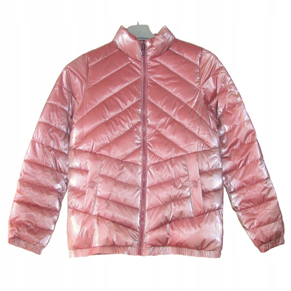 zara kurtka gumowa różowa