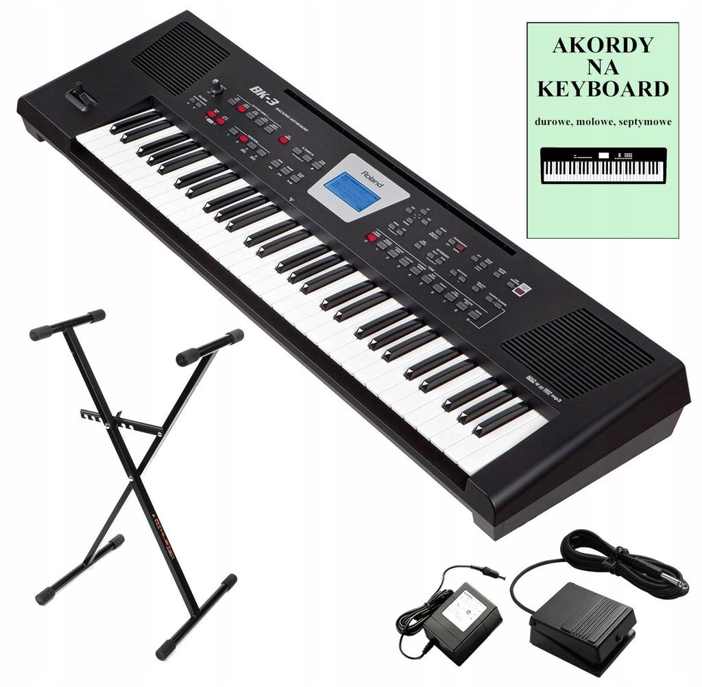 ROLAND BK-3 Keyboard-Syntezator + Pedał + Statyw