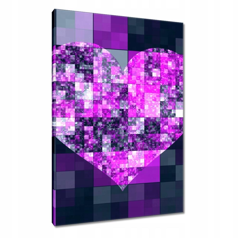 Obrazy 95x150 Mozaika w kształcie serca