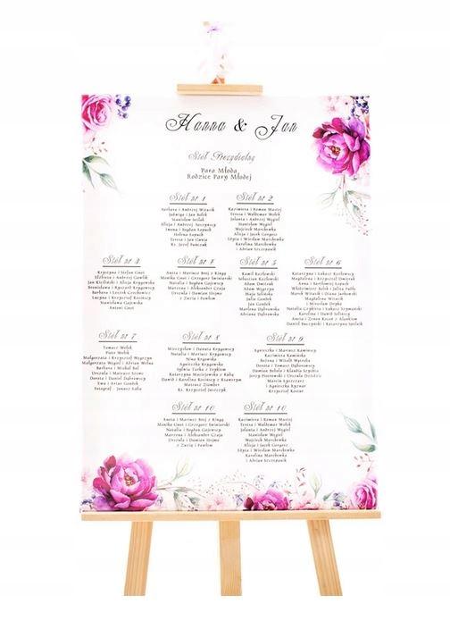 Plan stołów rozmieszczenie usadzenie gości wesele