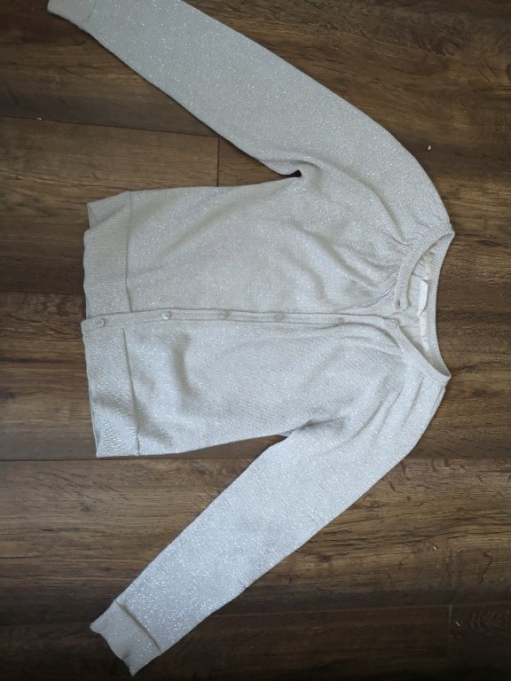 błyszczący sweterek reserved 128