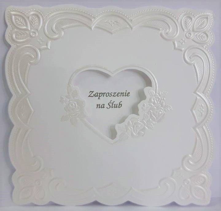 Zaproszenie Ślubne ślub tłoczone Ś18 kwadratowe
