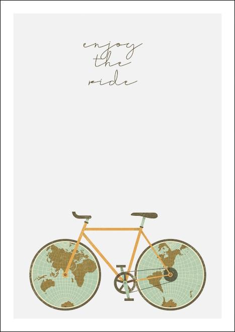 A3 rower rowery ENJOY THE RIDE świat globus
