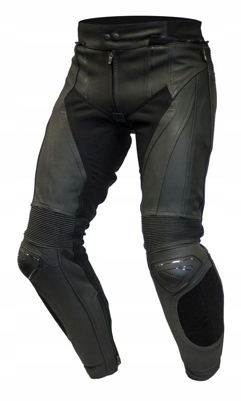 Spodnie motocyklowe skórzane OZONE VOLT BLACK 48