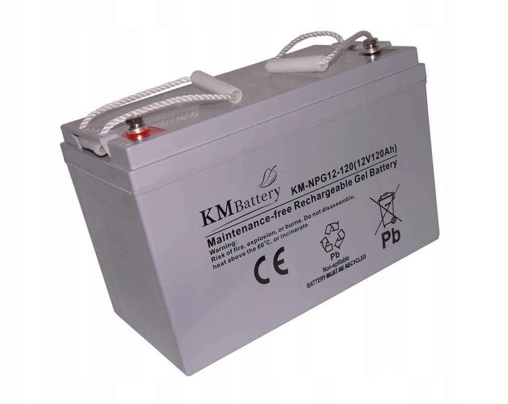 Akumulator KM Battery 120 Ah 12V 100% żelowy
