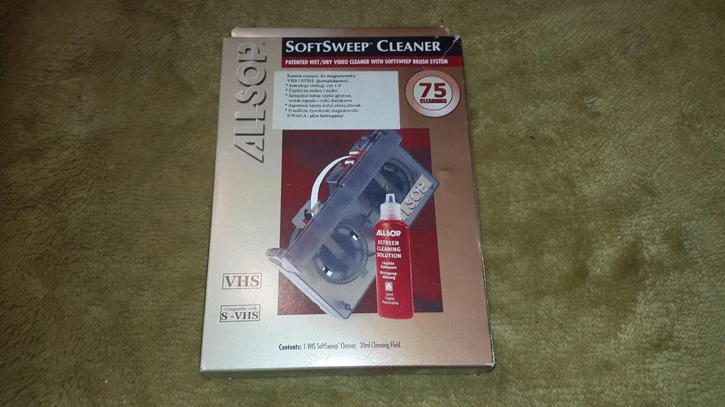 NOWA KASETA czyszcząca VHS do głowic z płynem