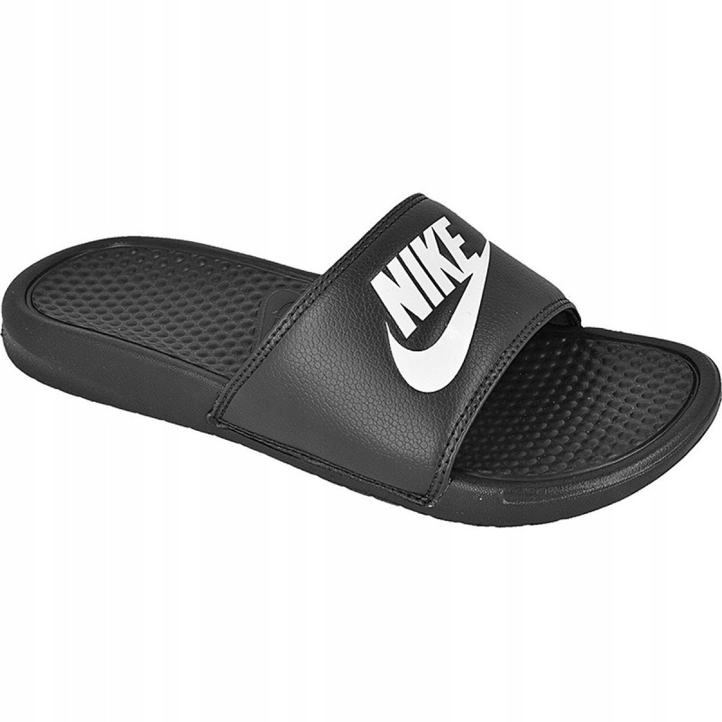 Nike klapki męskie białe czarne r.46 8149492743