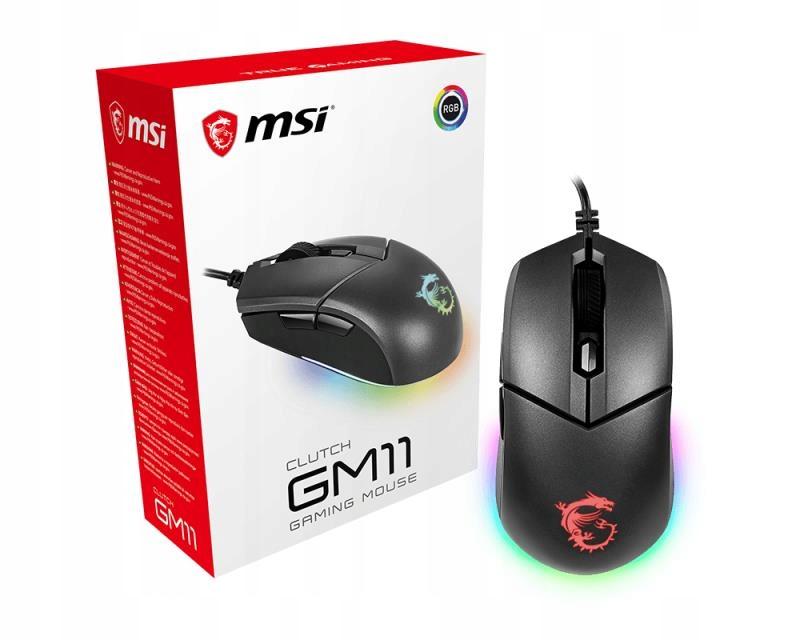 Mysz MSI Clutch GM11 optyczna; 5000 DPI