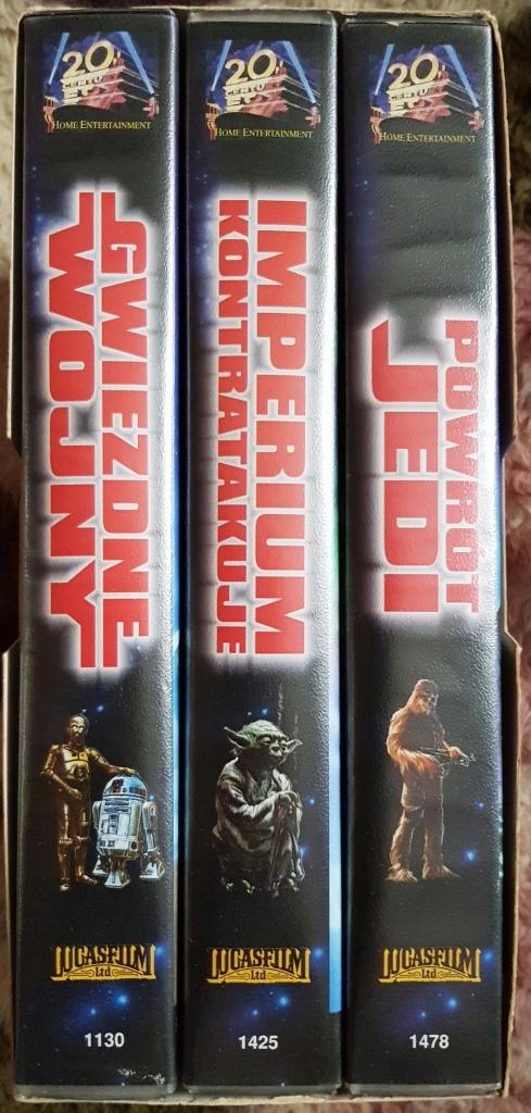 Gwiezdne wojny - Star Wars - Trylogia - kasety VHS