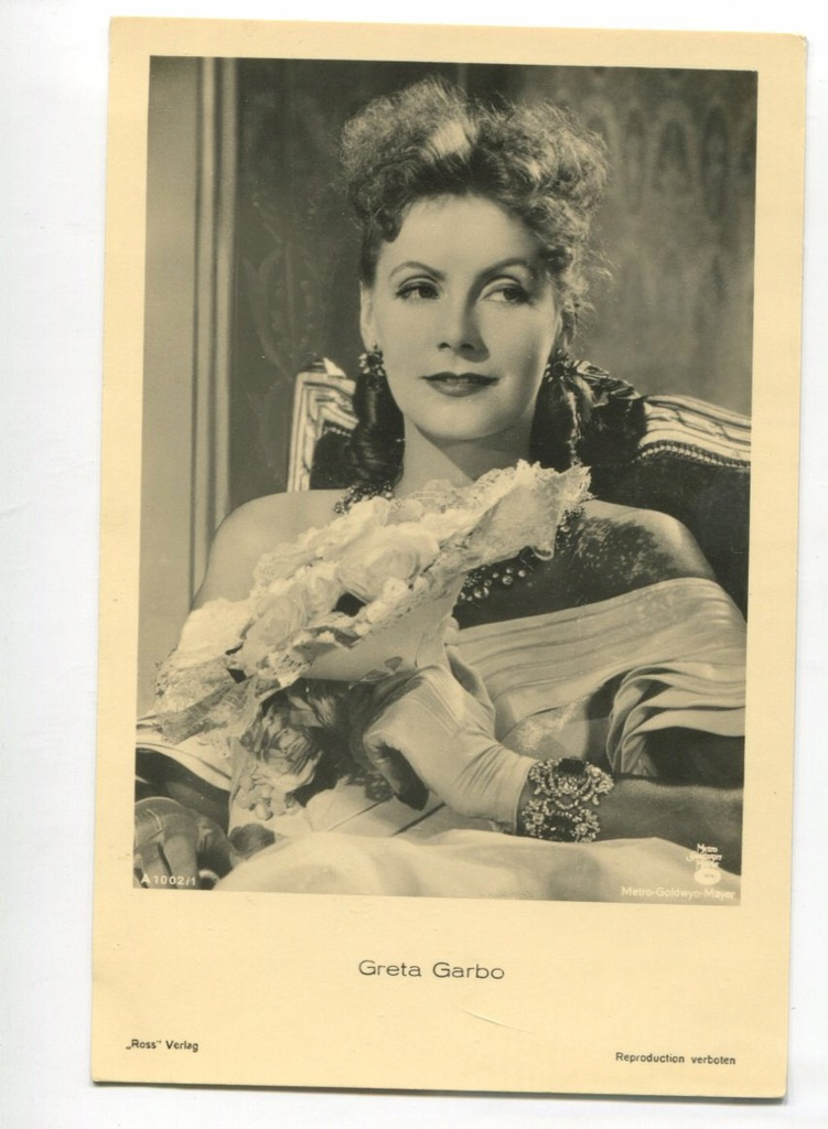 Greta Garbo Kino Film Aktorka Foto Pocztówka 26