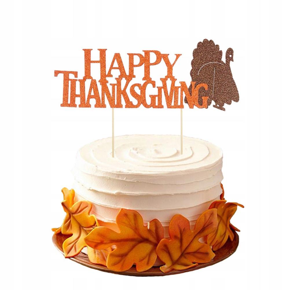 Topper Ciasto na Święto Dziękczynienia Topper na Ś