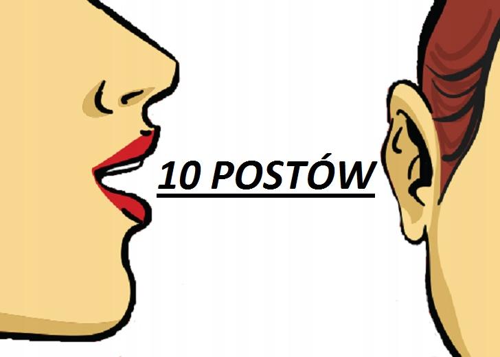 MARKETING SZEPTANY 10 postów- Ręcznie pisane+BONUS