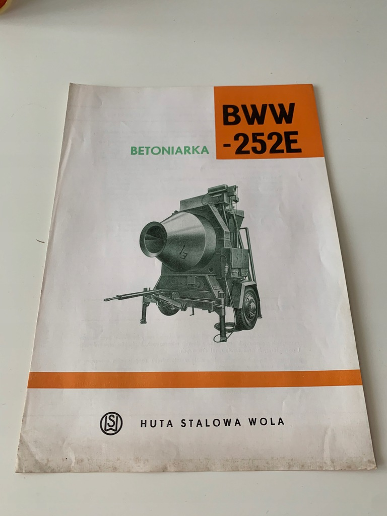 HUTA STALOWA WOLA PROSPEKT BETONIARKA BWW 252E HSW