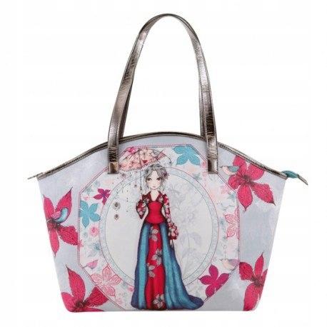 Curved shopper bag - mirabelle - parasol