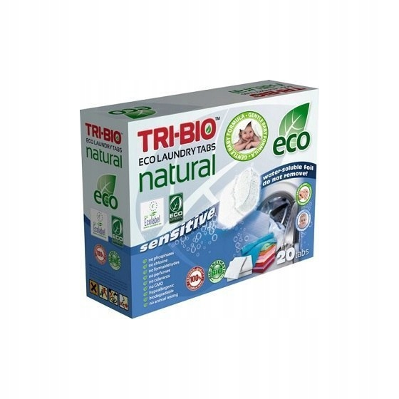 TRI-BIO Naturalne eko kapsułki do prania Sensitive