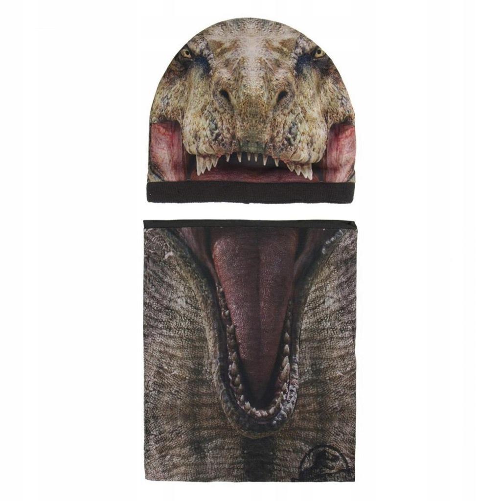 Komplet: czapka jesienna / zimowa i komin Jurassic