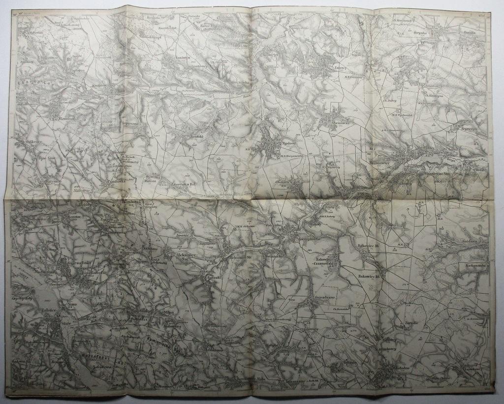 Mapa Załoźce Seret KRESY WSCHODNIE POLSKA 49x38 cm