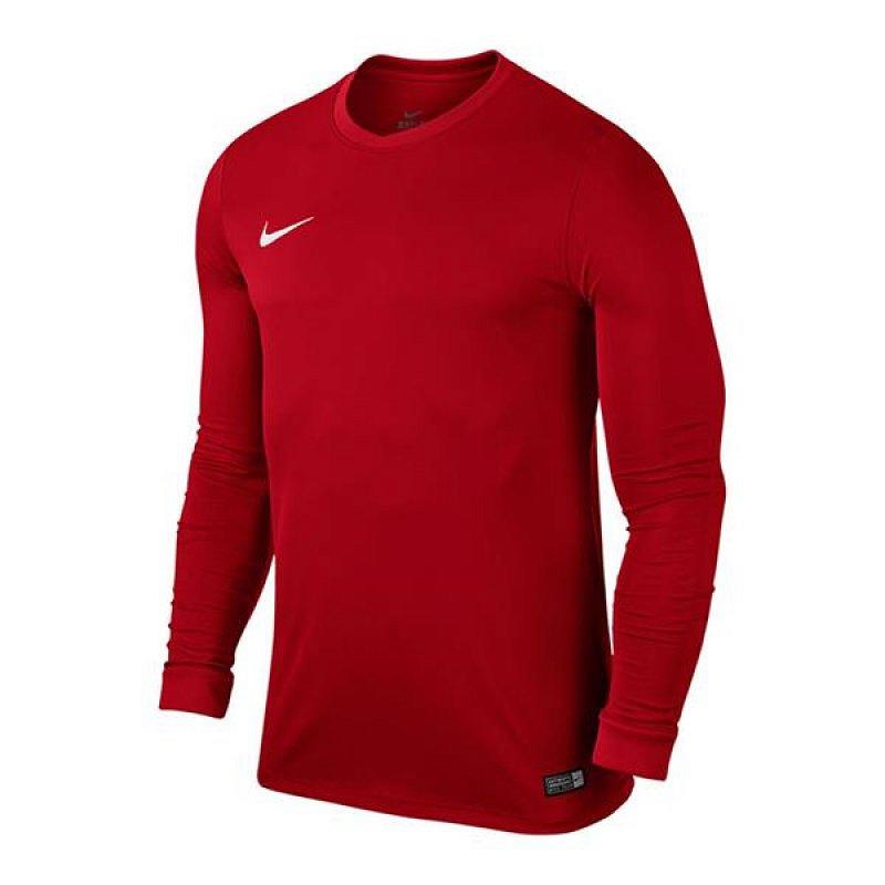 Koszulka NIKE Park VI LS Junior czerwona 164 cm