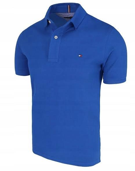 Koszulka męska polo Tommy Hilfiger TH niebieskaXXL