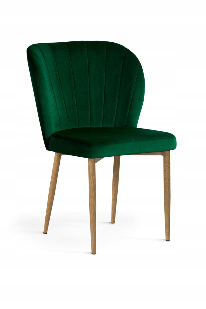 Krzesło Mori Aksamit Velvet złota noga
