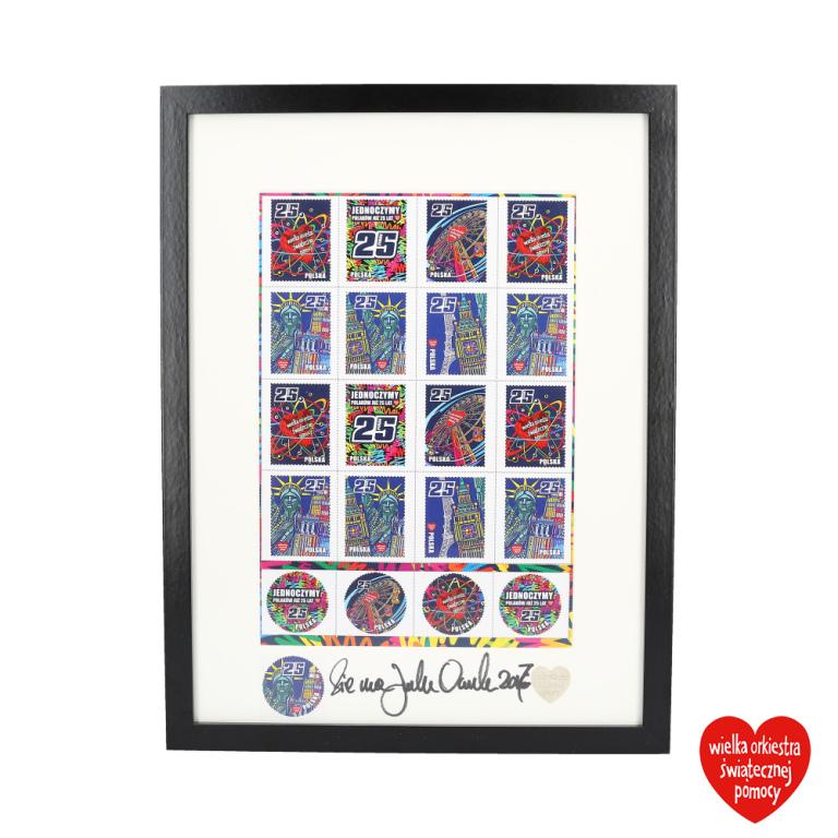 Fundacyjna płachta znaczków
