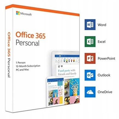 Microsoft Office 365 Personal PL 32/64 1 rok BOX