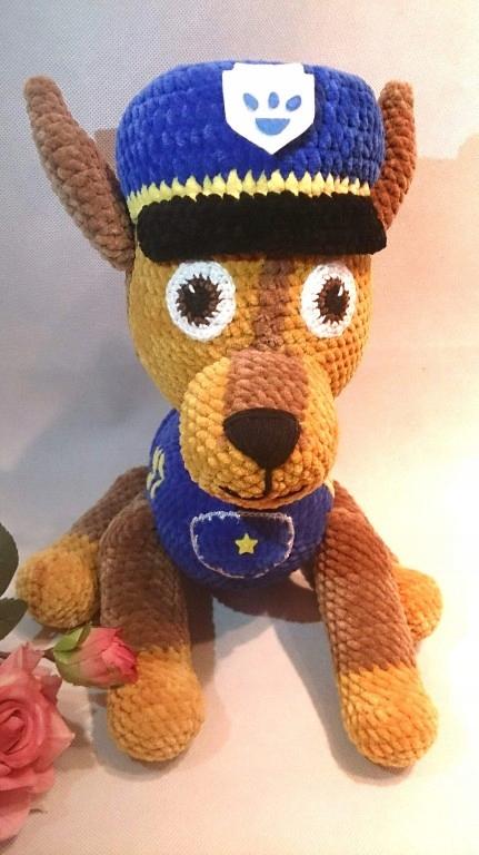 Psi patrol chase maskotka zabawka szydełko