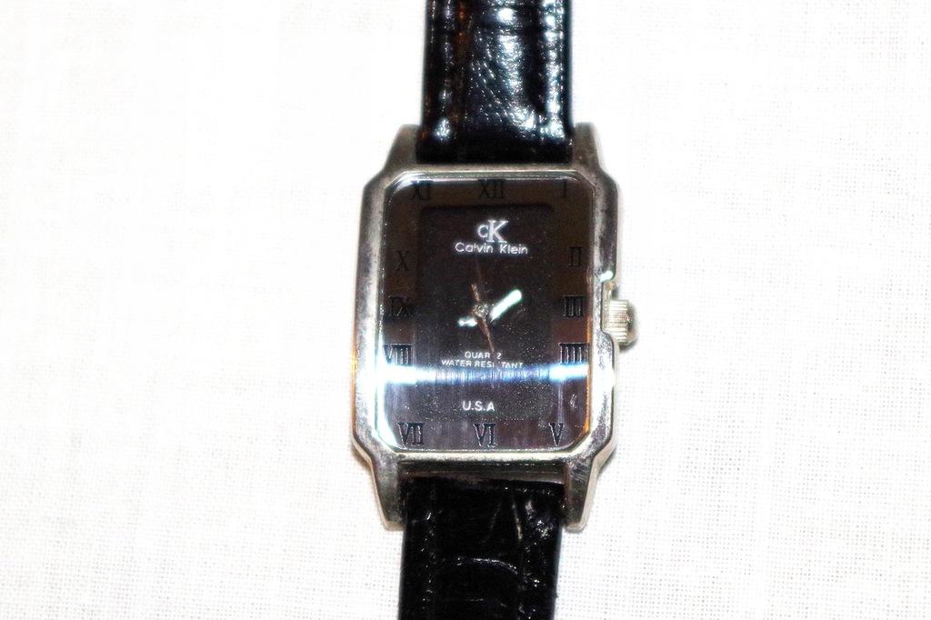 DAMSKI zegarek* CALVIN KLEIN *ze skórzanym paskiem