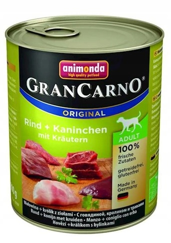 Animonda GranCarno Adult Królik z ziołami 800g