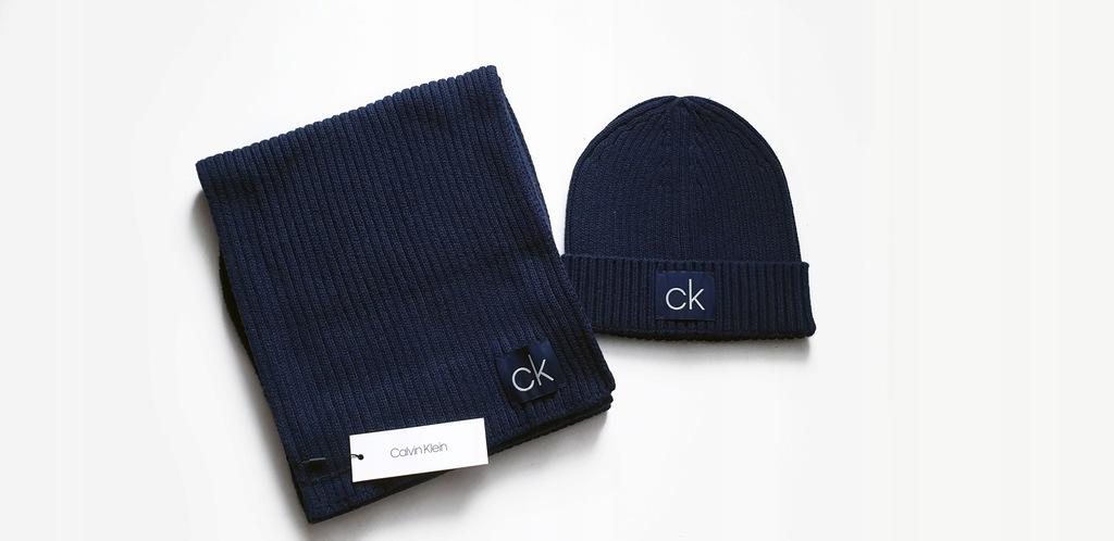 Calvin Klein CK - czapka szalik komplet oryginał!