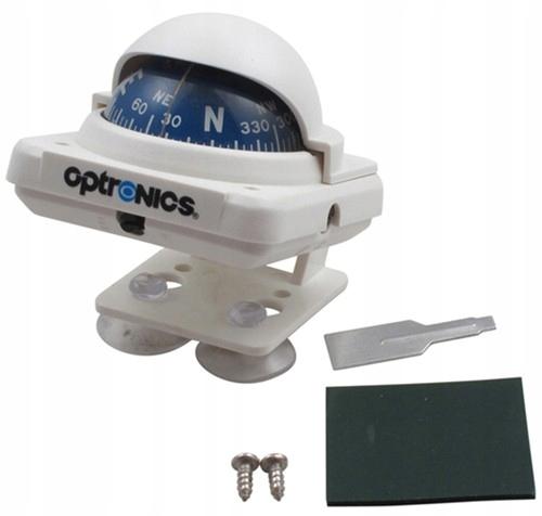 Kompas Żeglarski Pokładowy OPTRONICS CP-100 Biały