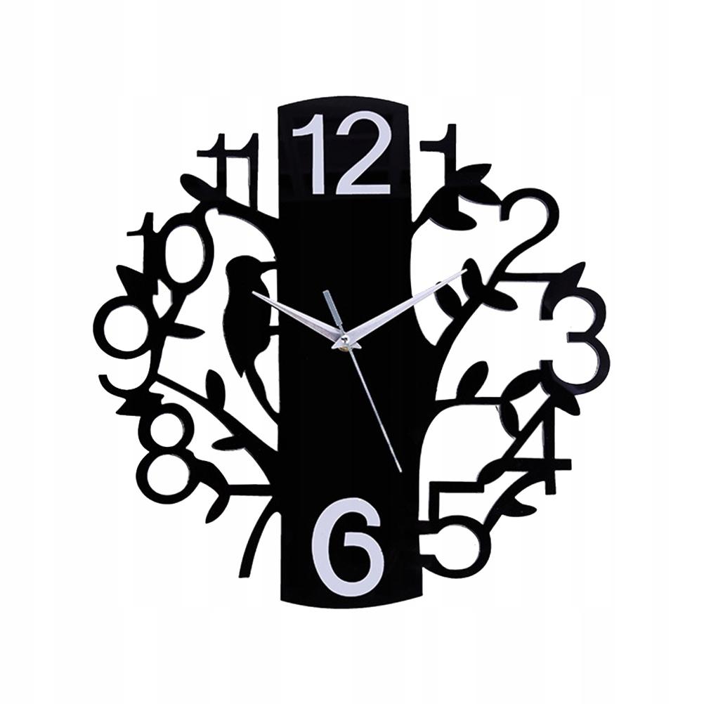 Acrylic Hanging Clock Birds Pattern Digital Clock