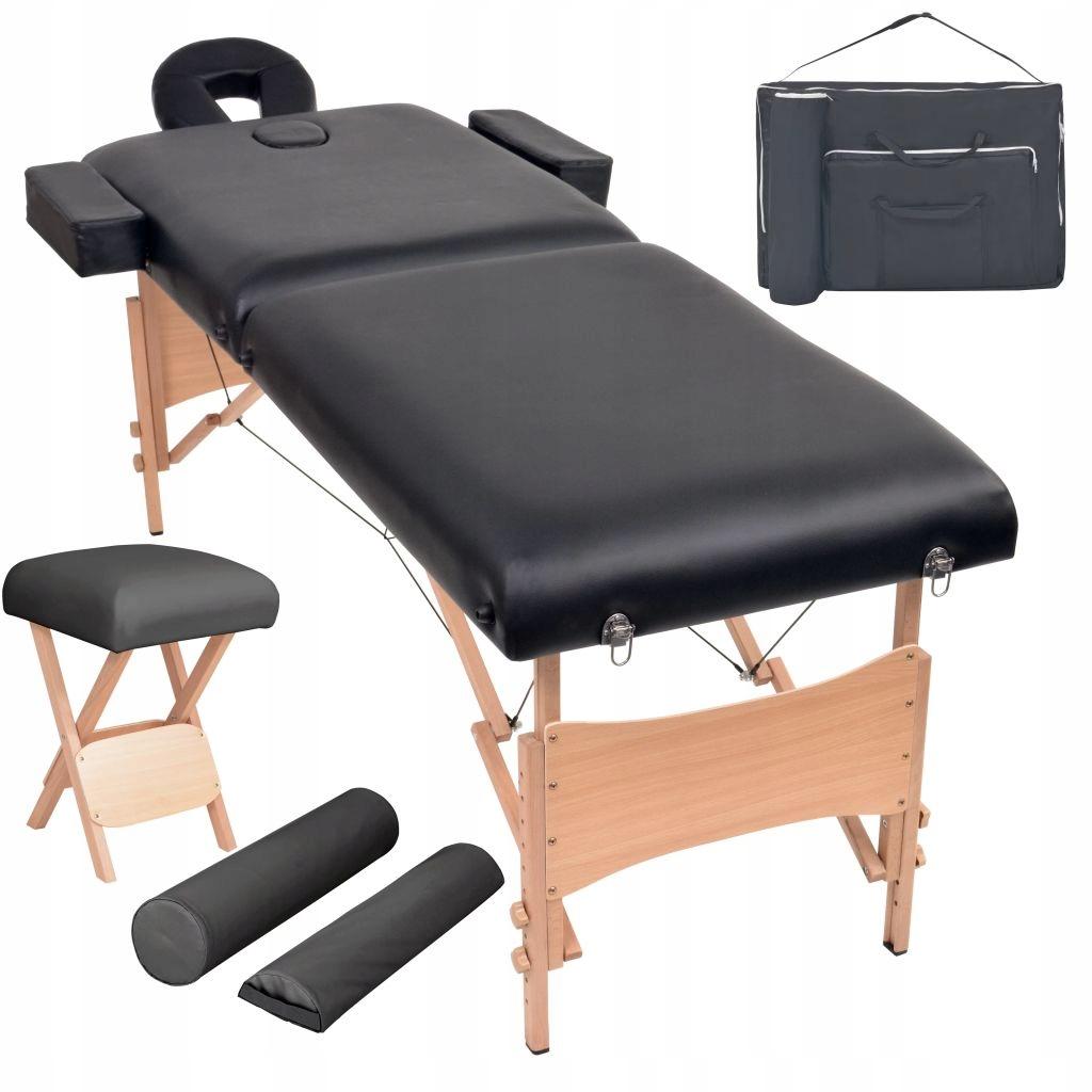 Składany stół do masażu i stołek, dwuczęściowy, gr