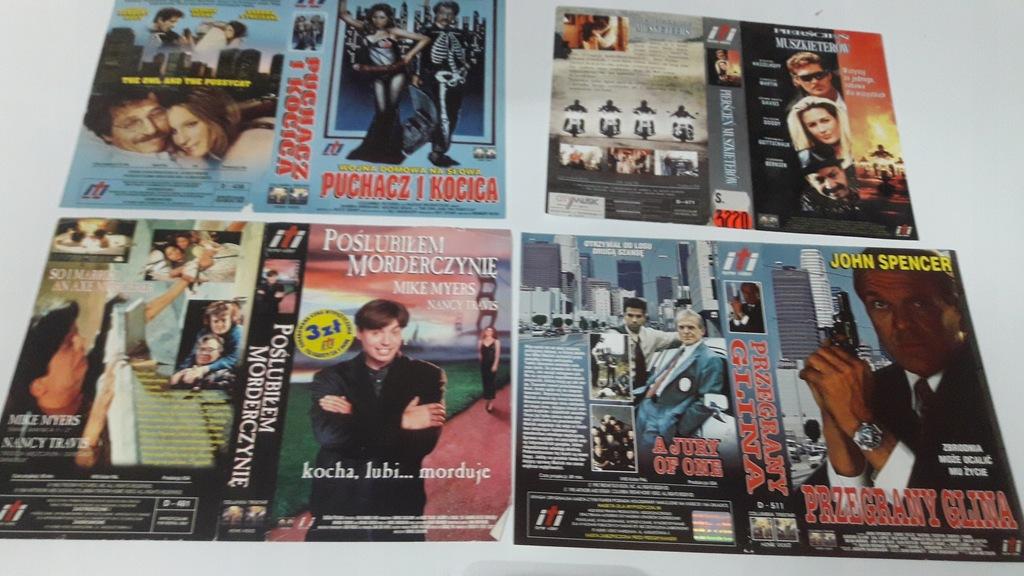 A-0861 pakiet 8 okładek kaset vhs