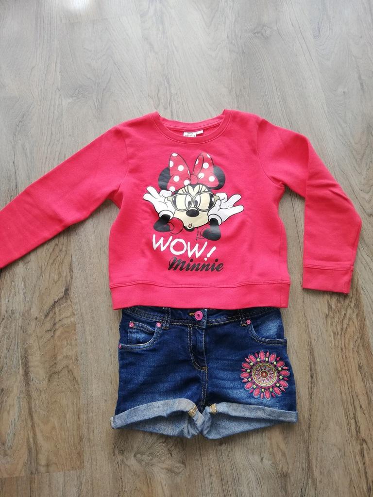Bluzeczka z Minnie 128cm+gratis spodenki