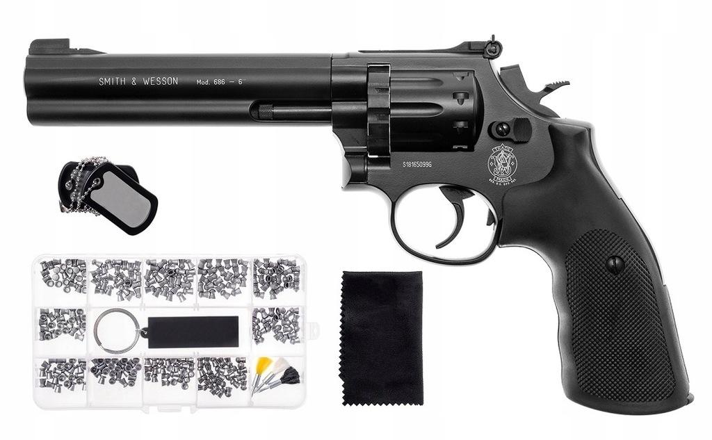 Wiatrówka rewolwer Smith Wesson Mod. 686 ZESTAW