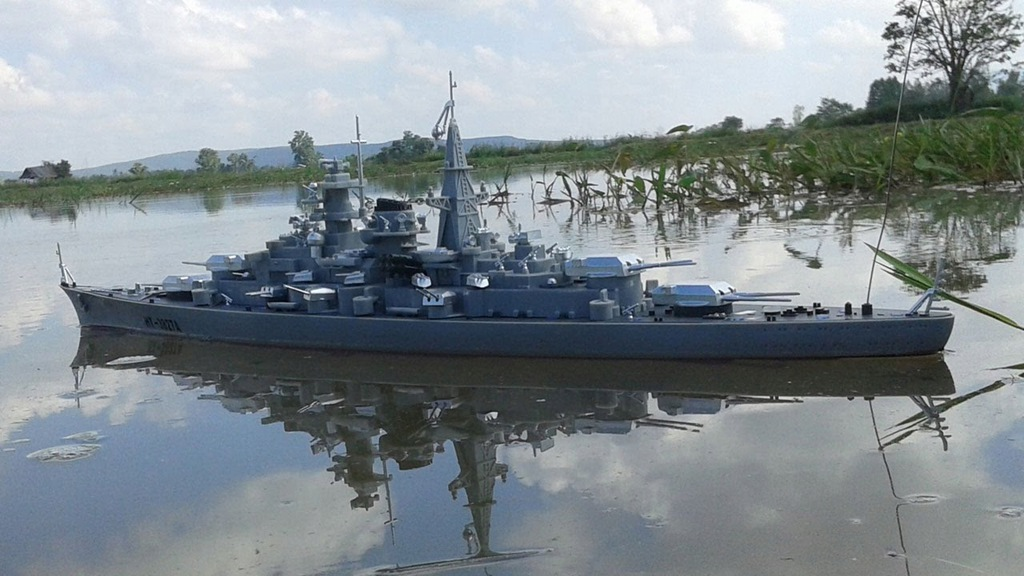 Okręt Wojenny Rc Zdalnie Sterowany Statek Bismarck 8316147045 Oficjalne Archiwum Allegro
