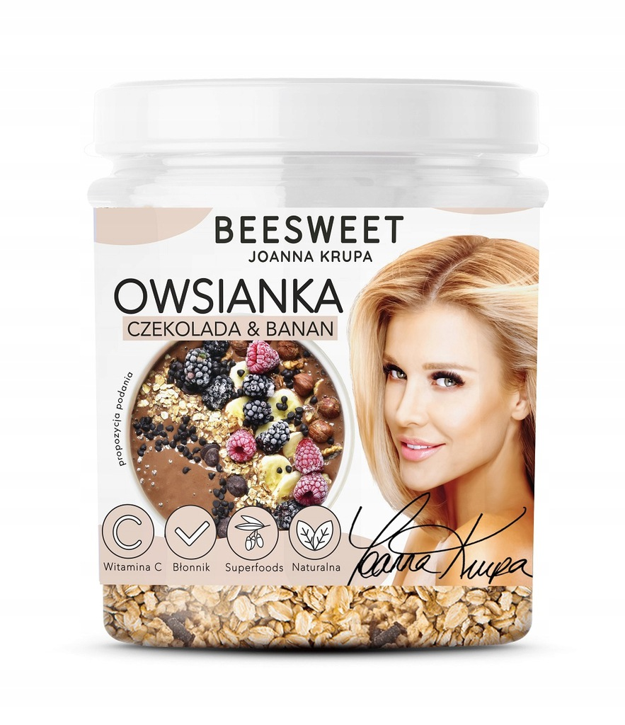 BEESWEET Owsianka Czekolada & Banan 60g