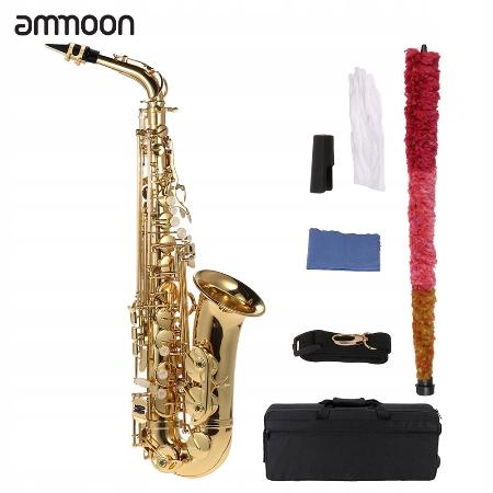 Saksofon ammoon Eb altowy mosiądz lakierowany złot