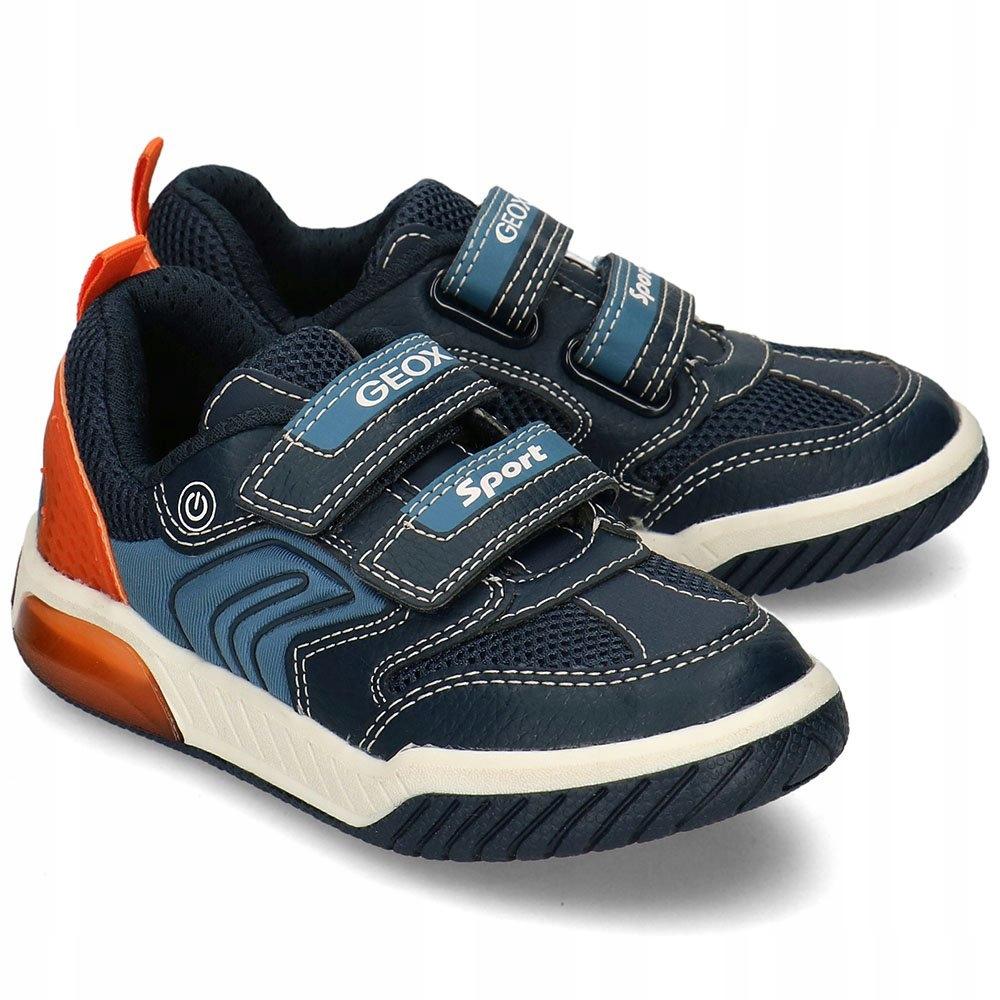 Geox Granatowe Sneakersy Dziecięce Rzepy R.31